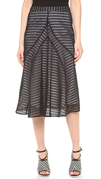 Derek Lam Honeycomb Weave Skirt