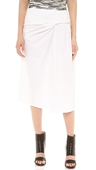 Twisted Sarong Skirt (White)