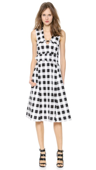 Derek Lam Full Skirt Dress with Belt