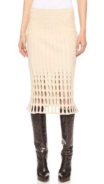 Derek Lam Felted Mesh Pencil Skirt