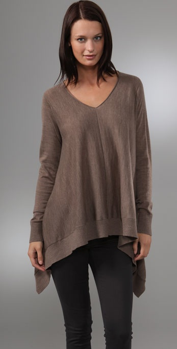 DKNY Oversized Sweater with Seam Detail