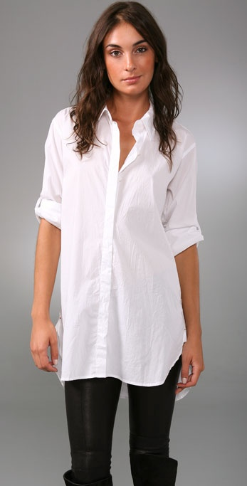DKNY pure DKNY Button Front Tunic