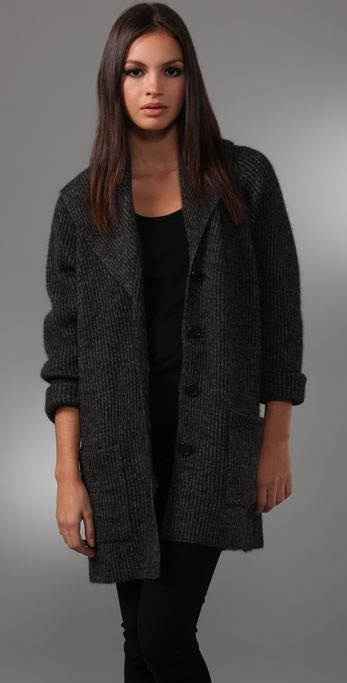 DKNY Oversized Cardigan with Pockets