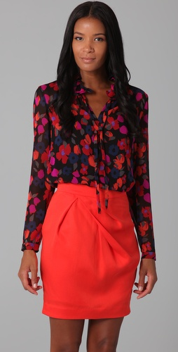DKNY Penelope Floral Blouse