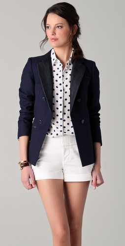 DKNY Mixed Media Jacket