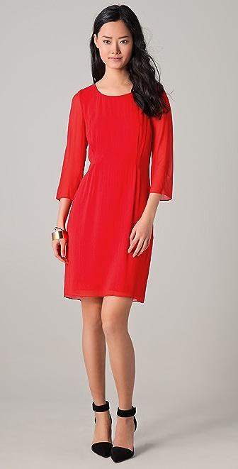 DKNY Three Quarter Sleeve Shift Dress
