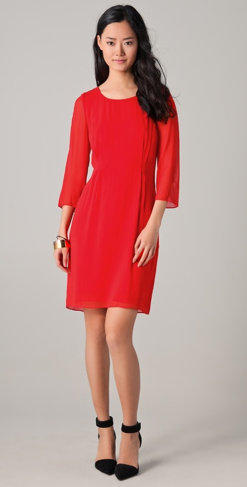 DKNY Three Quarter Sleeve Shift Dress