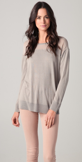 DKNY Silk Fine Knit Sweater