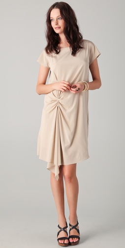 DKNY Gathered Cascade Dress