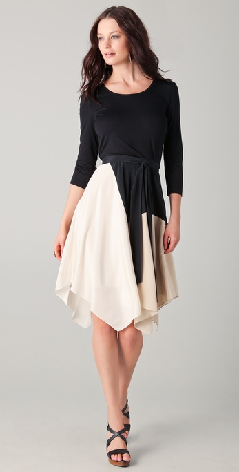 DKNY Colorblock System Dress