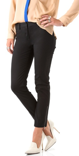 DKNY Skinny Pants with Ankle Zippers