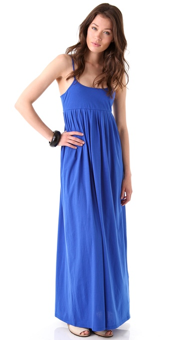 DKNY Spaghetti Strap Maxi Dress
