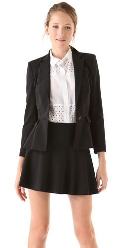 DKNY One Button Bracelet Sleeve Jacket