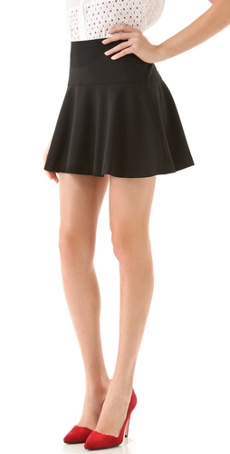 DKNY Ruffle Hem Miniskirt
