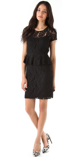 DKNY Lace Peplum Dress