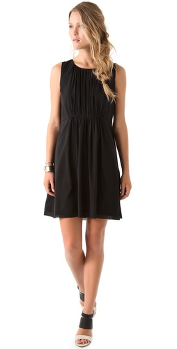 DKNY Sleeveless Dress with Gathered Waist
