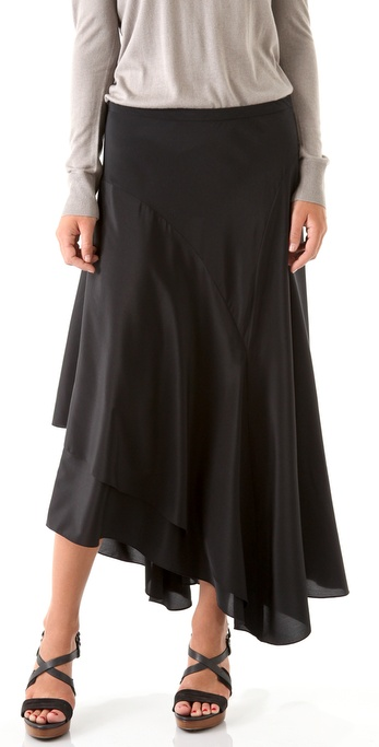 DKNY Asymmetrical Maxi Skirt