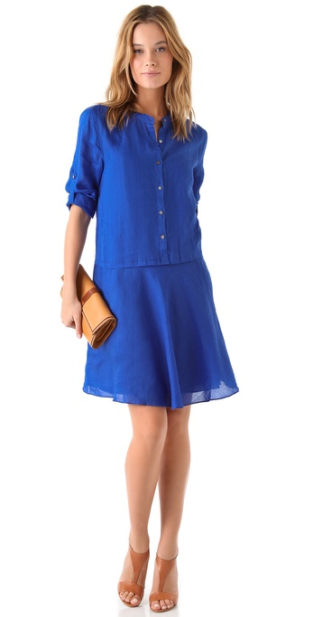 DKNY Pure DKNY Trapeze Hem Shirtdress