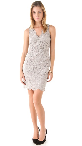 DKNY V Neck Lace Dress
