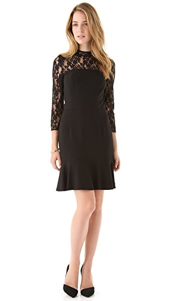 DKNY Lace Yoke Tulip Dress