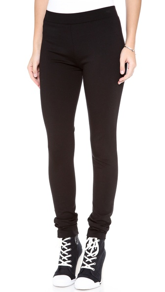 Dkny Leggings With Back Seam - Black at Shopbop / East Dane