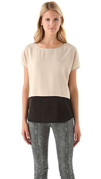DKNY Colorblock Blouse