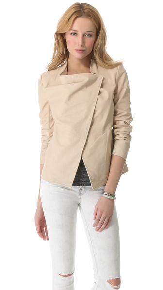 DKNY Pure DKNY Combo Leather Jacket