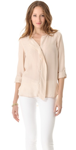 DKNY Pure DKNY Flutter Placket Blouse at Shopbop.com