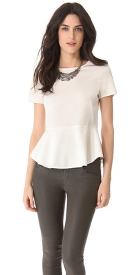 DKNY Peplum Blouse
