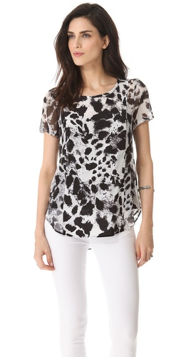 DKNY Scoop Neck Blouse at Shopbop.com