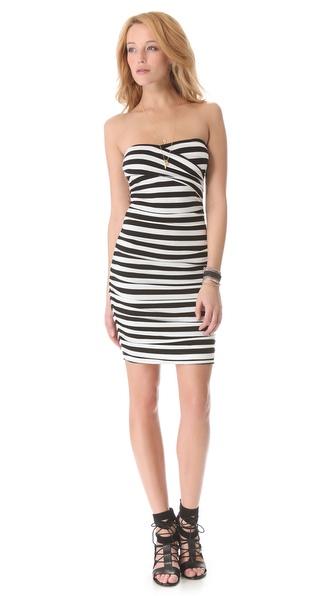 DKNY Gathered Strapless Dress
