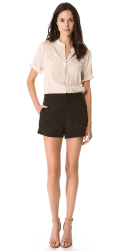 DKNY Colorblock Button Romper