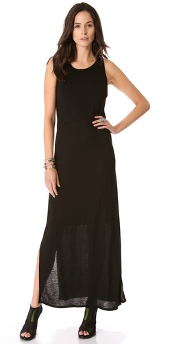DKNY Maxi Dress with Front Overlay at Shopbop.com
