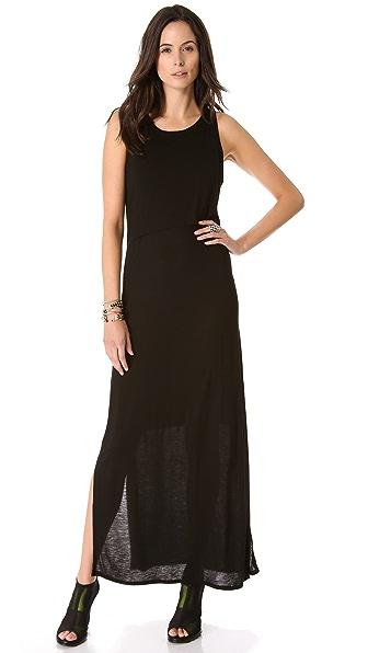 DKNY Maxi Dress with Front Overlay