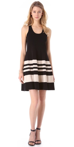 DKNY Striped Racer Back Dress at Shopbop.com
