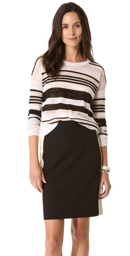 DKNY Stripe Crewneck Pullover at Shopbop.com