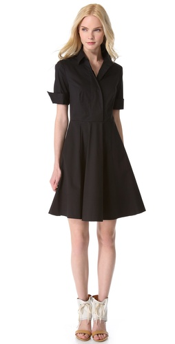 DKNY Trapunto Stitch Shirtdress