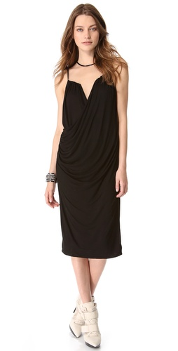 DKNY Sleeveless Drape Front Dress