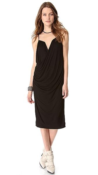 DKNY Sleeveless Drape Front Dress