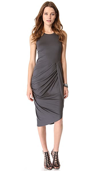 DKNY Sleeveless Side Gather Dress