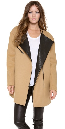 DKNY Asymmetrical Zip Front Coat at Shopbop / East Dane