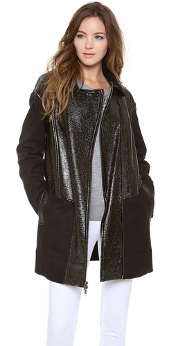 DKNY Asymmetrical Zip Front Jacket at Shopbop / East Dane