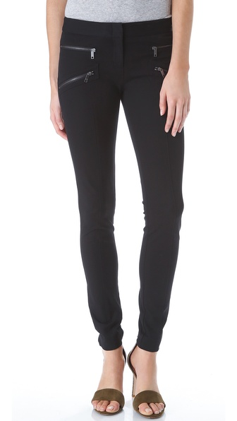 DKNY Skinny Pants with Zipper Pockets