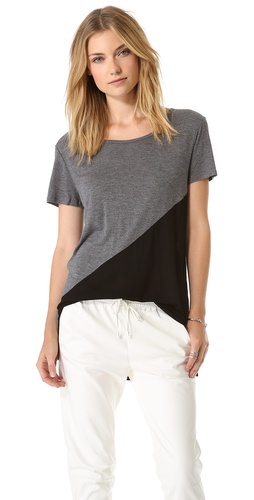 DKNY Colorblock Drop Shoulder Tee at Shopbop / East Dane