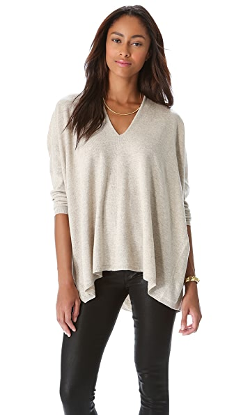 DKNY Drop Shoulder V Neck Pullover