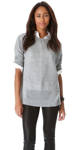 DKNY Drop Shoulder Crew Neck Pullover at Shopbop / East Dane