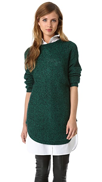 DKNY Novelty Stitch Pullover