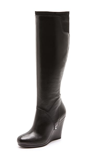 DKNY Nadia Stretch Back Wedge Boots