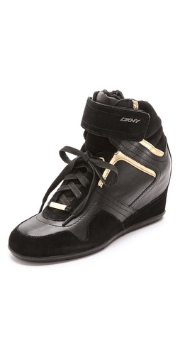 DKNY Cornelia Wedge High Top Sneakers at Shopbop / East Dane