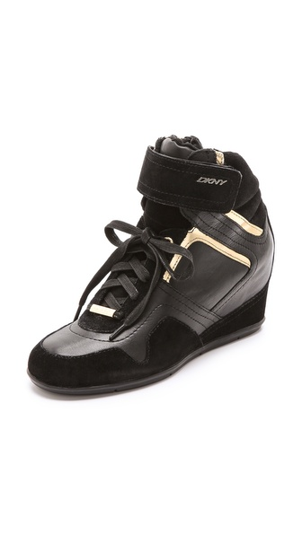 DKNY Cornelia Wedge High Top Sneakers